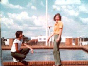 Picina da praça de Clevelândia...  Sergio e Lúcia