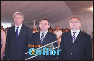 Vice Sadi Fazolo - Presidente da Câmara de Vereadores Marcos Loyola - Prefeito Ademir Gheller