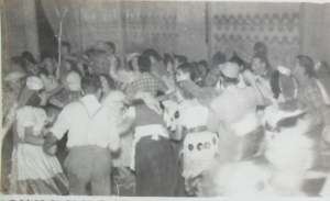 Interio do Clube Casino de Clevelândia em 1936 em um Carnaval