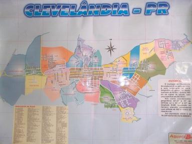 VEJA O MAPA COM O NOME DE TODAS AS RUAS DE CLEVELANDIA, BAIRROS ETC!