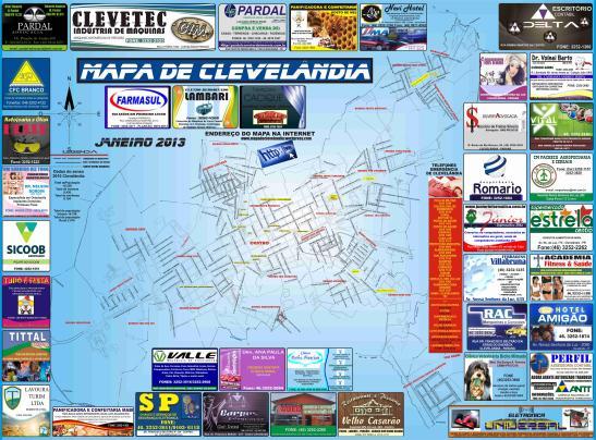 MAPA DE CLEVELÂNDIA VERSÃO 2013