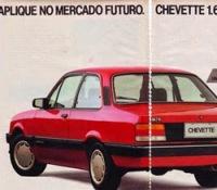 Propaganda do Chevette (Chevrolet) em 1989.
